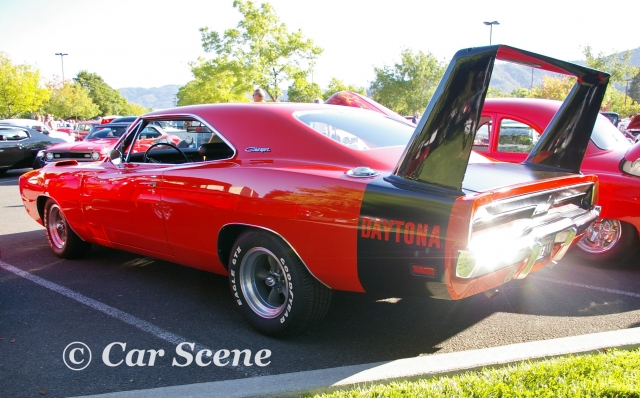 1969 Dodge Charger Daytona rear three quarters view