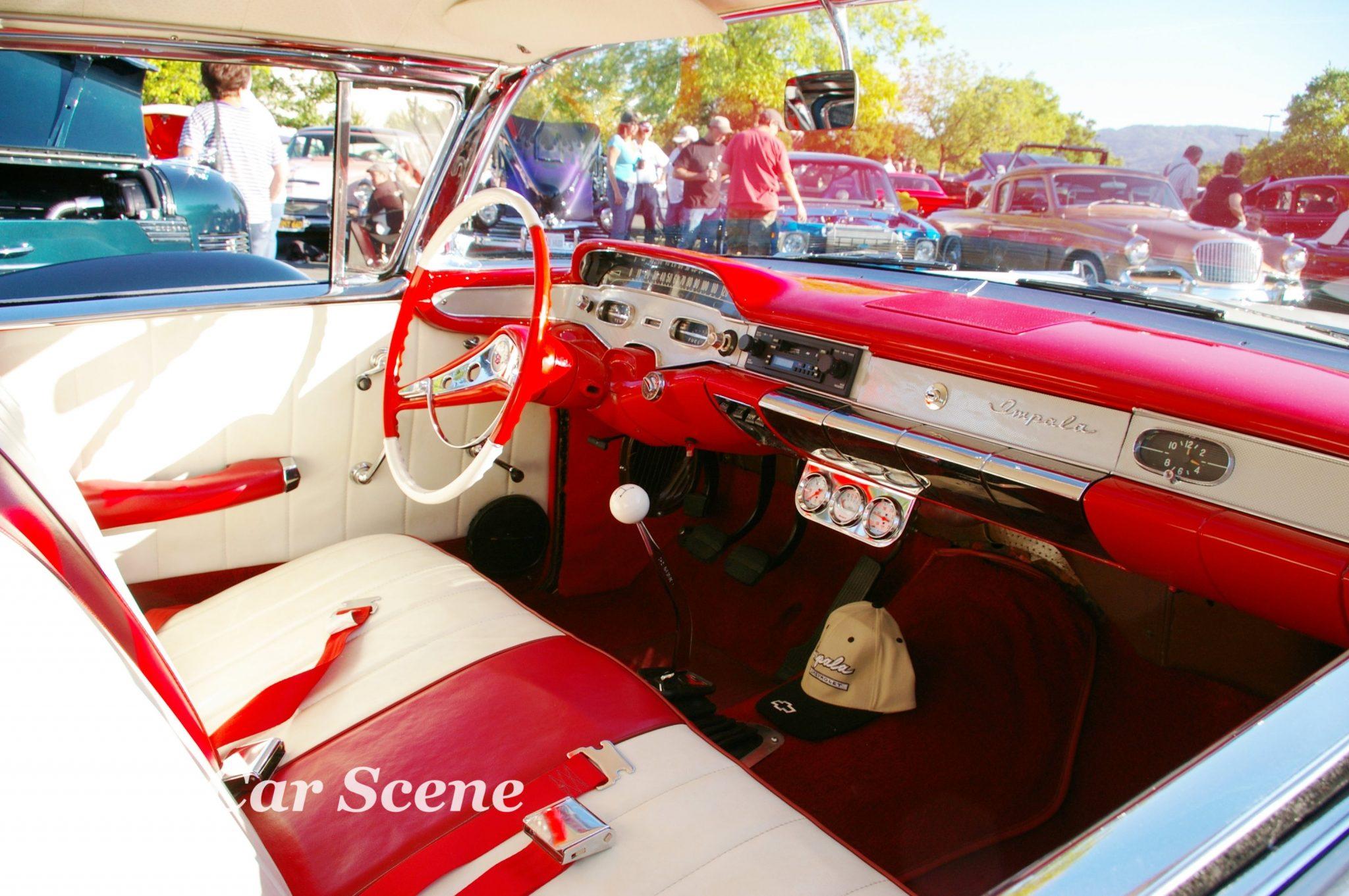 1958 Chevrolet Impala 2 door hardtop cockpit view