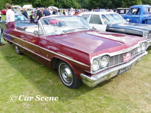 1964 Chevrolet Impala convertible front three quarters view
