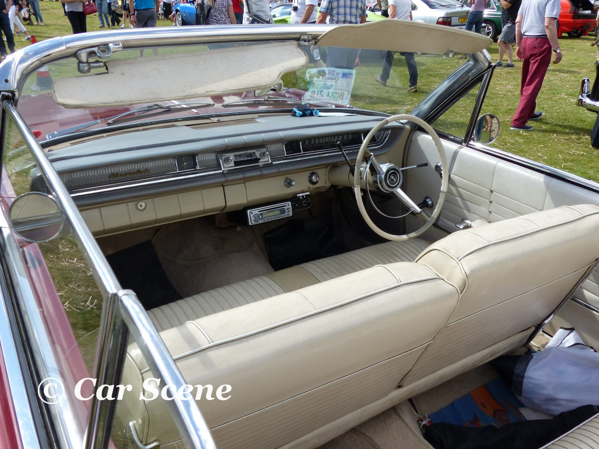 1964 Chevy Impala covertible interior view
