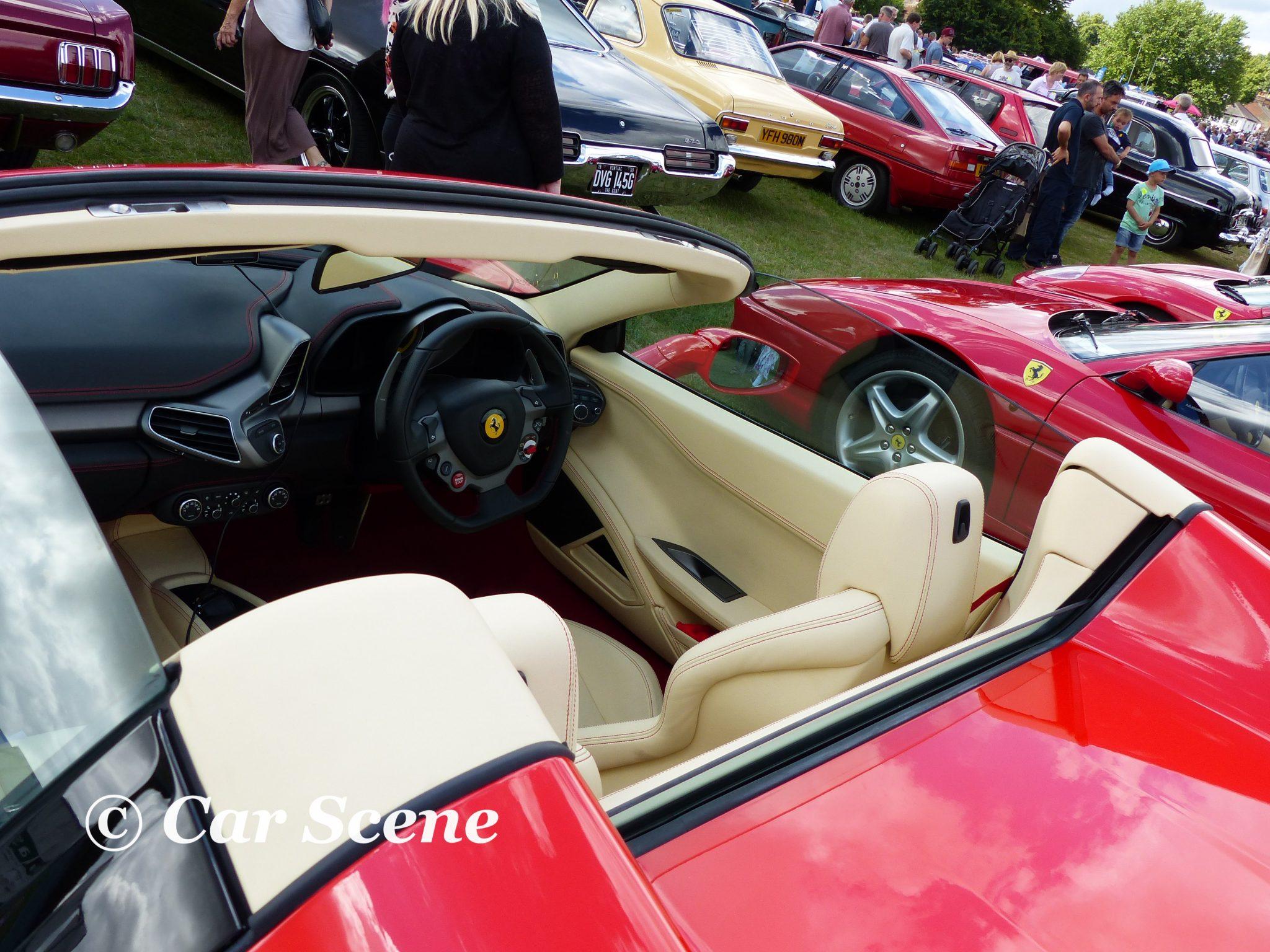 c2014 Ferrari 458 Spider cockpit view
