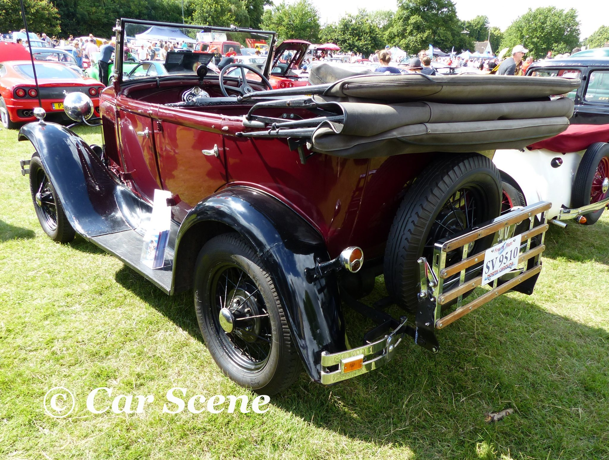 1930 Ford Model A tourer rear view