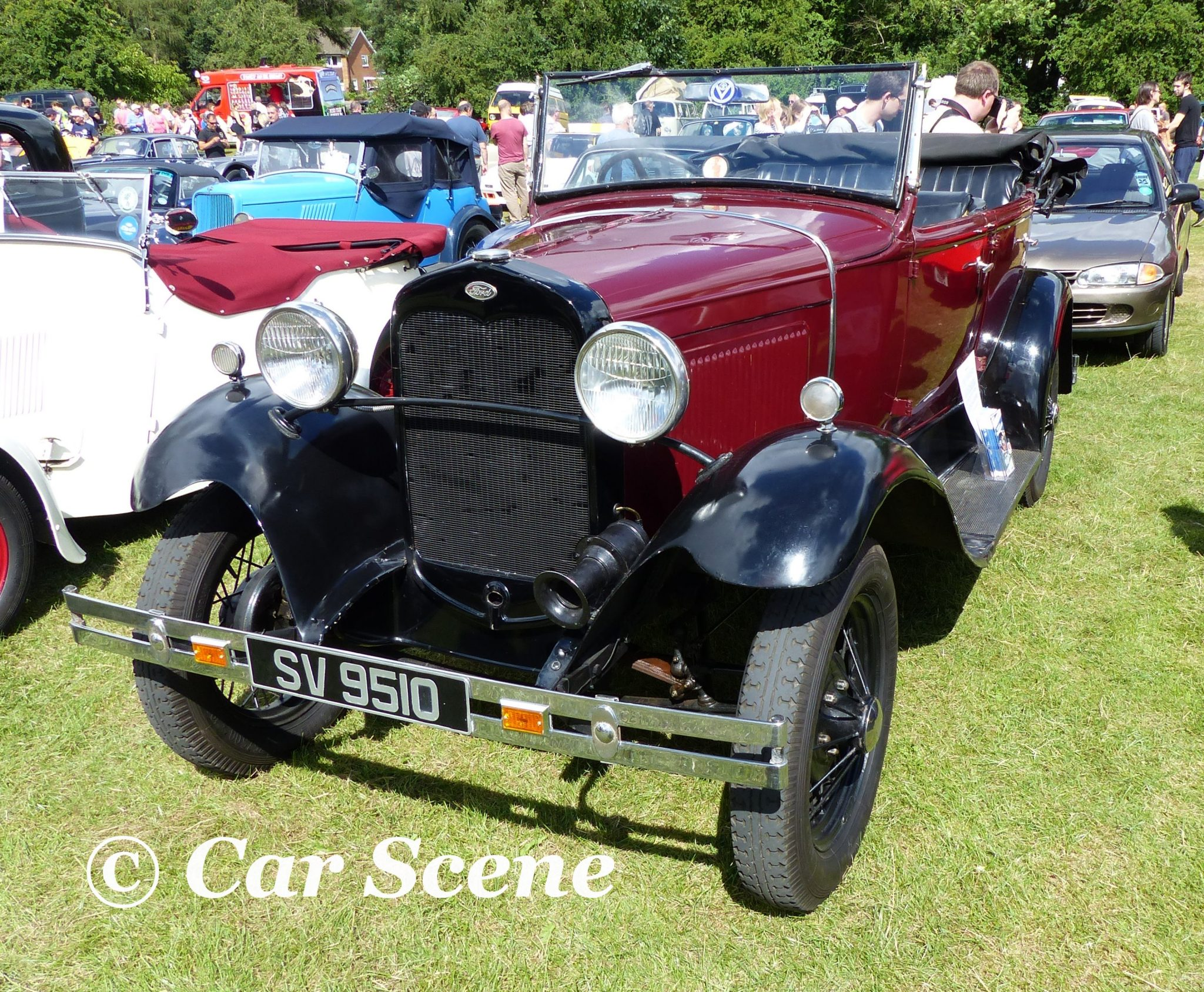 1930 Ford Model A tourer front view