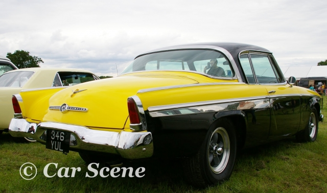 1955 Studebaker President rear three quarters view