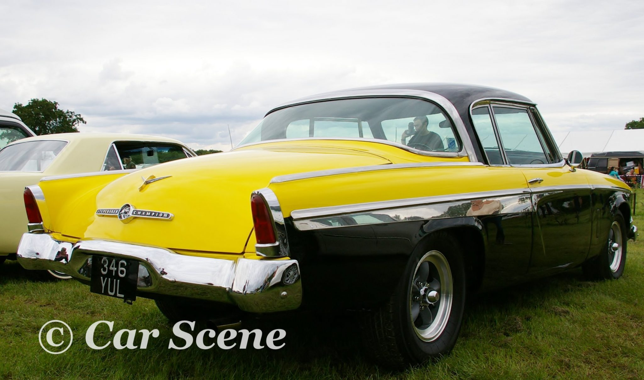 1955 Studebaker President rear three quarters view
