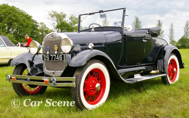 1930 Model A Ford Convertible front three quarters vew