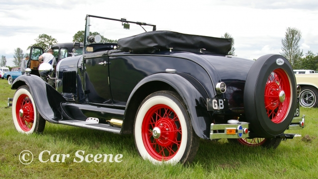 1930 Model A Ford Convertible rear three quarters view