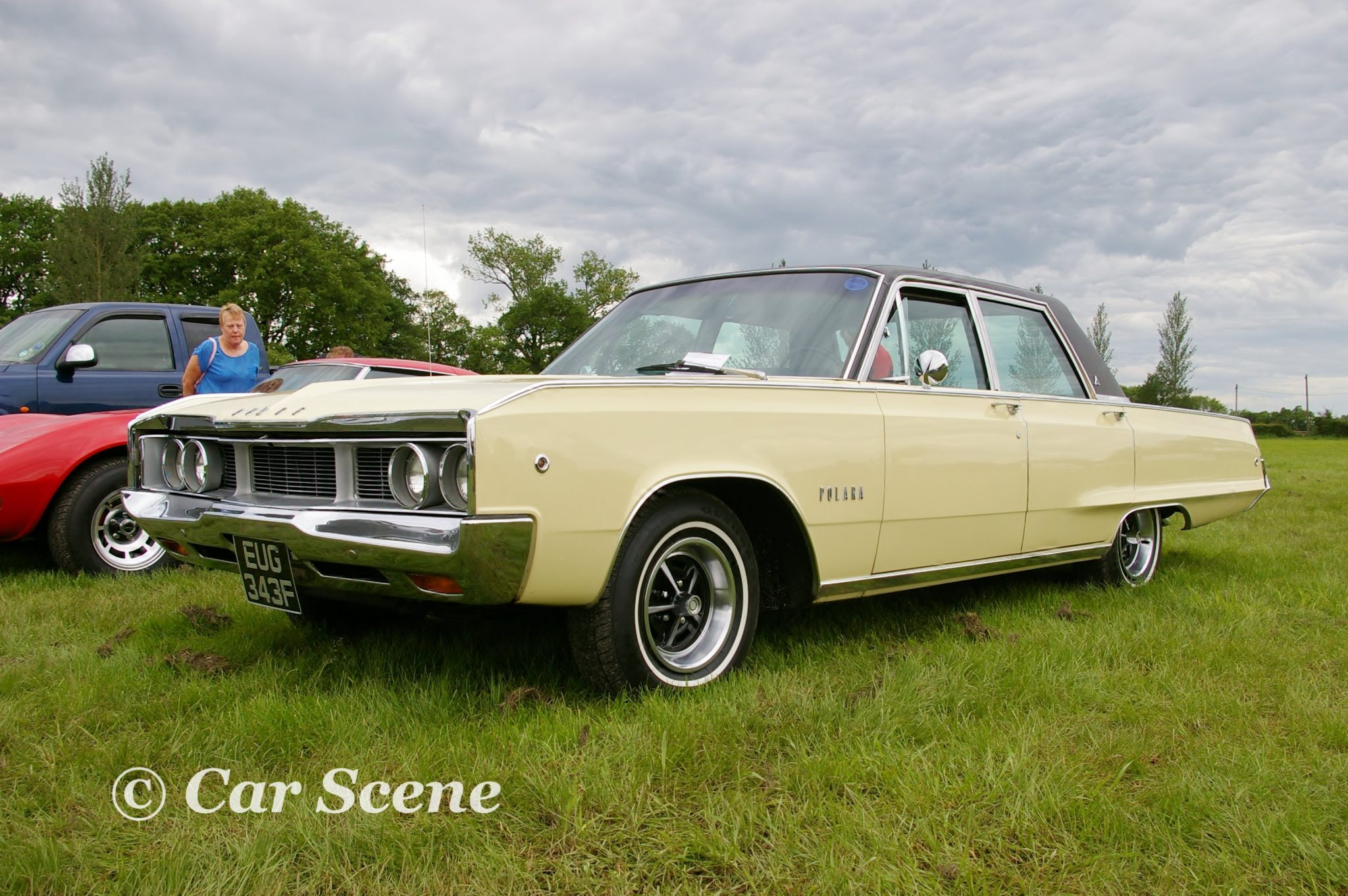 1968 Dodge Polara 4 door sedan front three quarter view