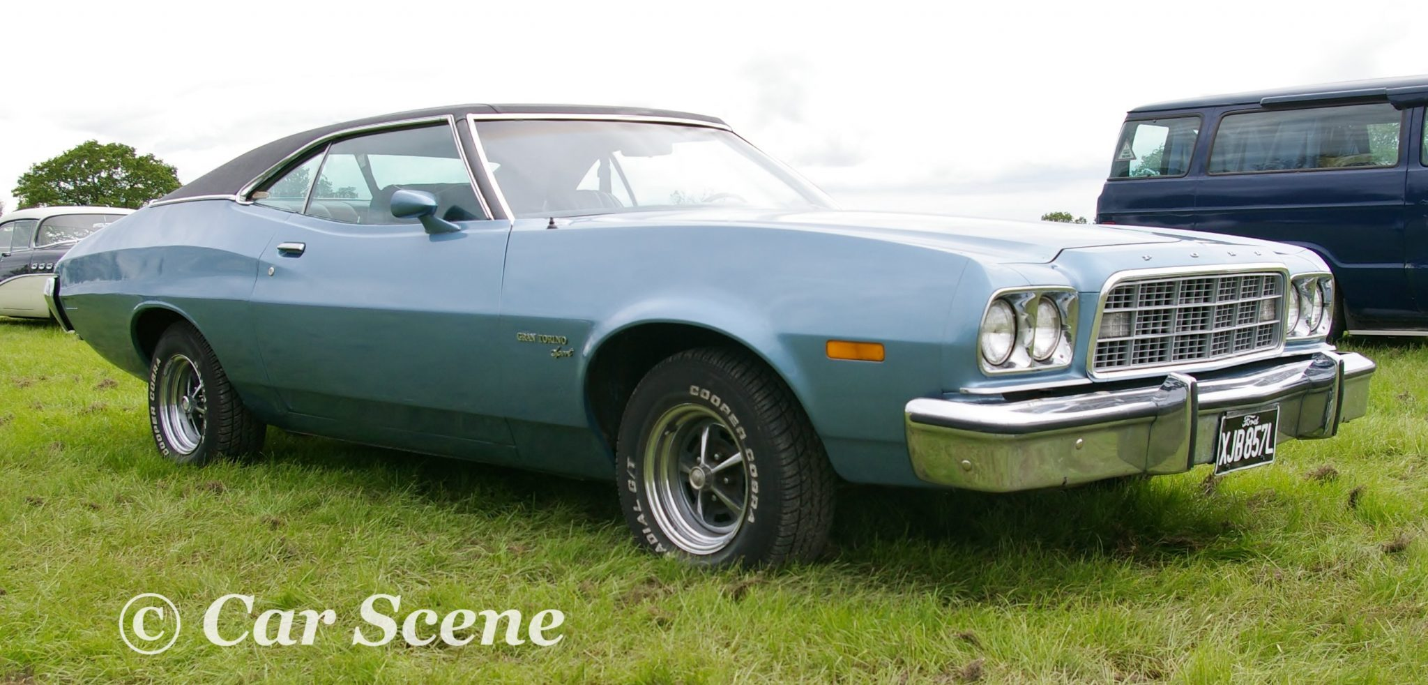 1972 Ford Gran Torino Sport front three quarter view