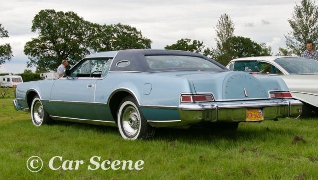 1975 Lincoln Continental 2 door hardtop rear three quarters view