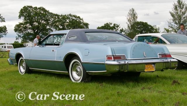 1975 Lincoln Continental 2 door hardtop rear three quarters view