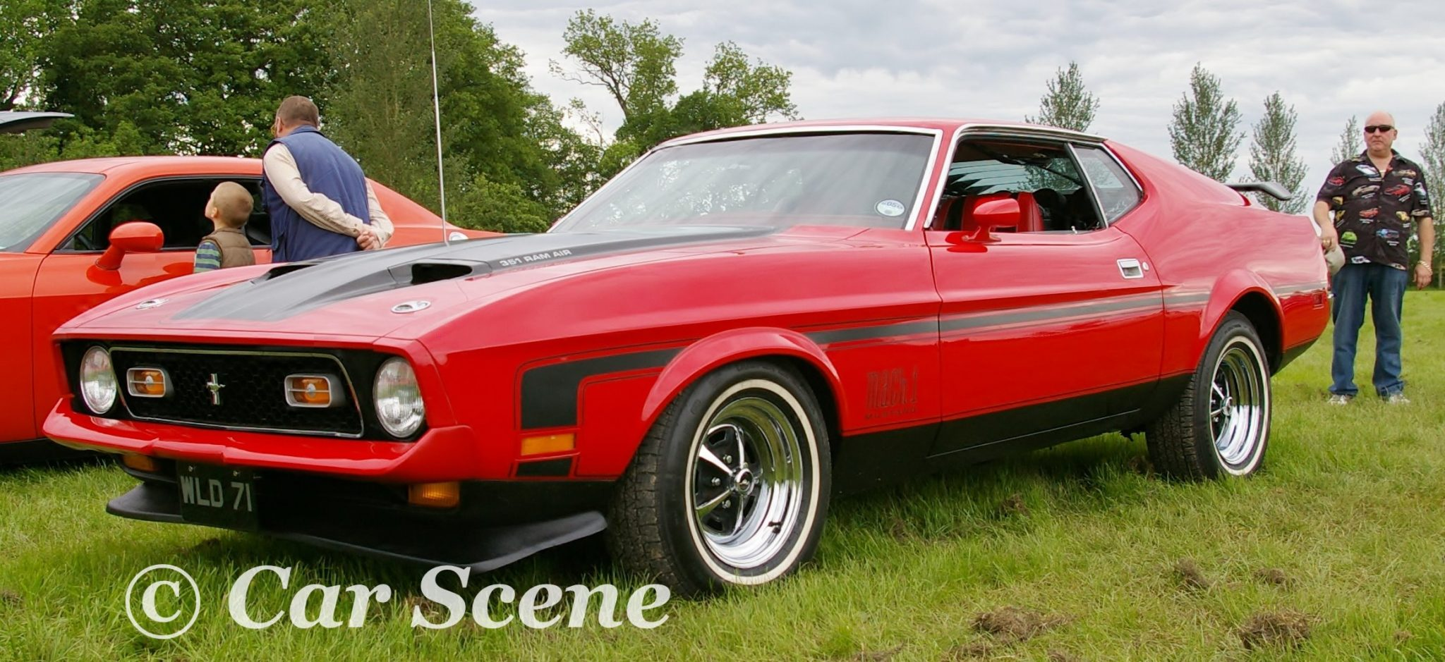 1971 Ford Mustang Mach 1 front side view