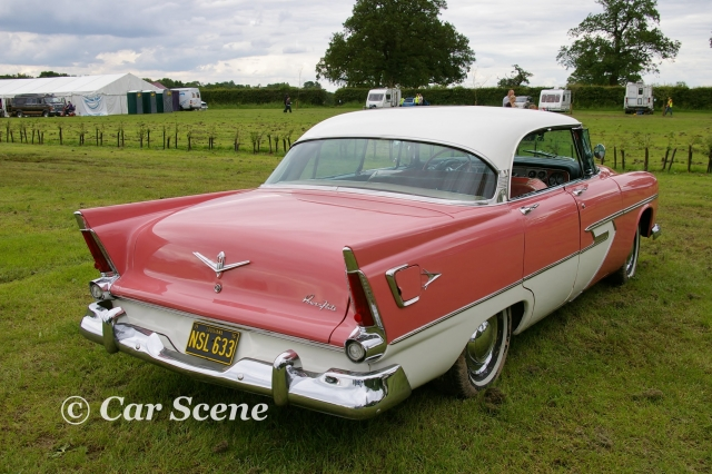 1955 Pymouth Belvedere rear three quarters view
