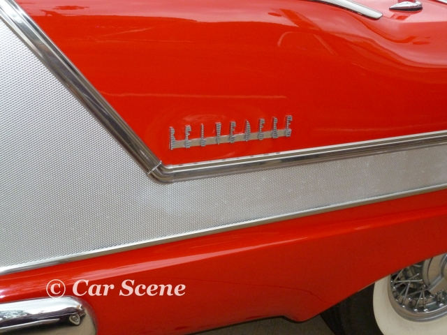 1958 Plymouth Belvedere rear fender name badge