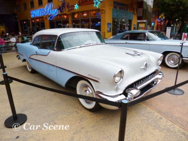 1955 Oldsmobile Rocket 88 Holiday front three quarters view