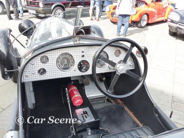 1934 British Salmson sports car cockpit view