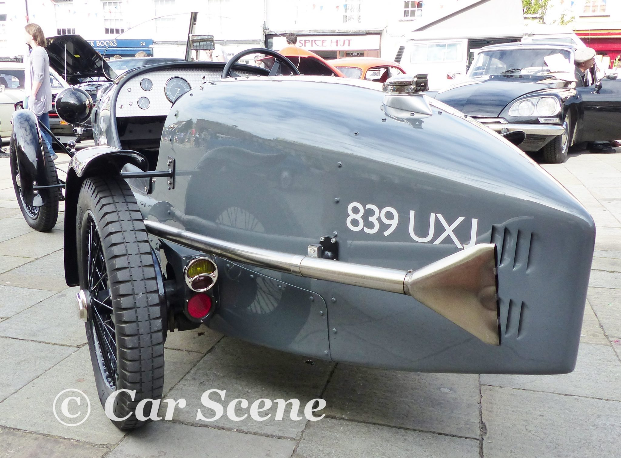 1934 British Salmson sports car rear view