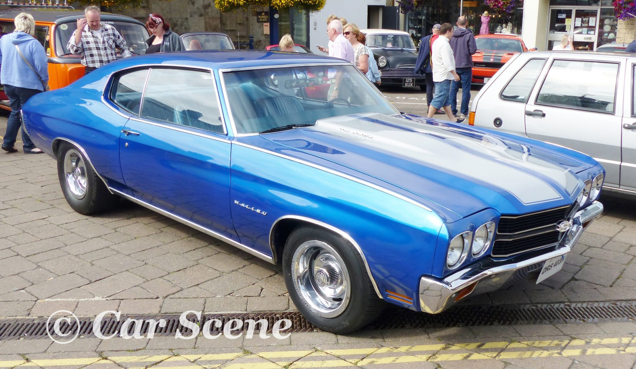 1972 Chevrolet Chevelle Malibu front three quarters view