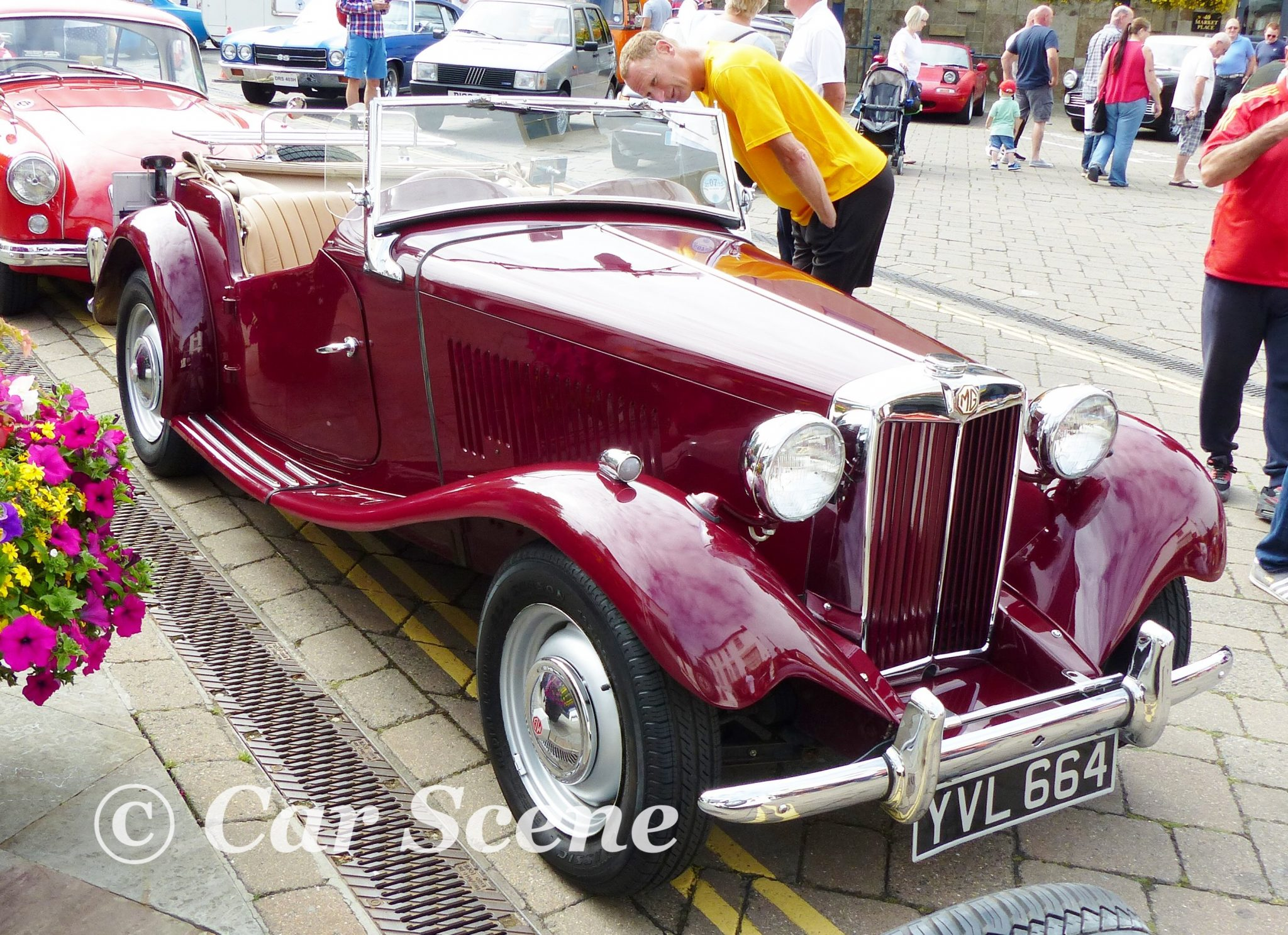 1952 MG TD front three quarters view