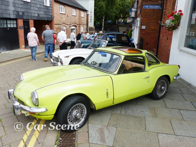 1970 Triumph Spitfire Mk. III with Hardtop front side view