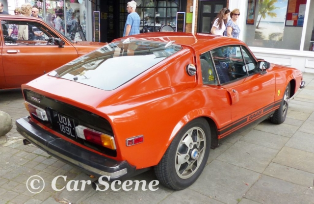 1972 Saab Sonett III rear three quarters view