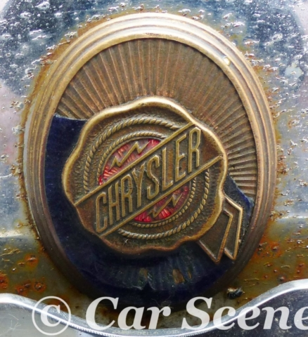 1929 Chrysler 75 Cabriolet radiator badge