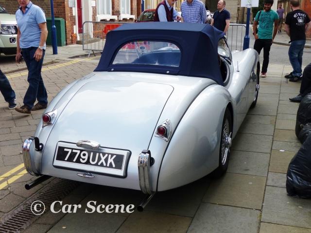 1948 - 54 Jaguar XK120 soft top rear view