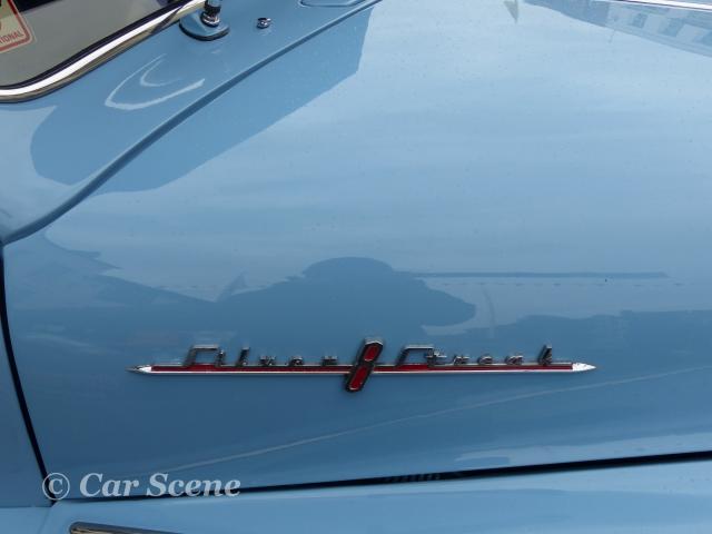 1948 Pontiac rear side hood name badge