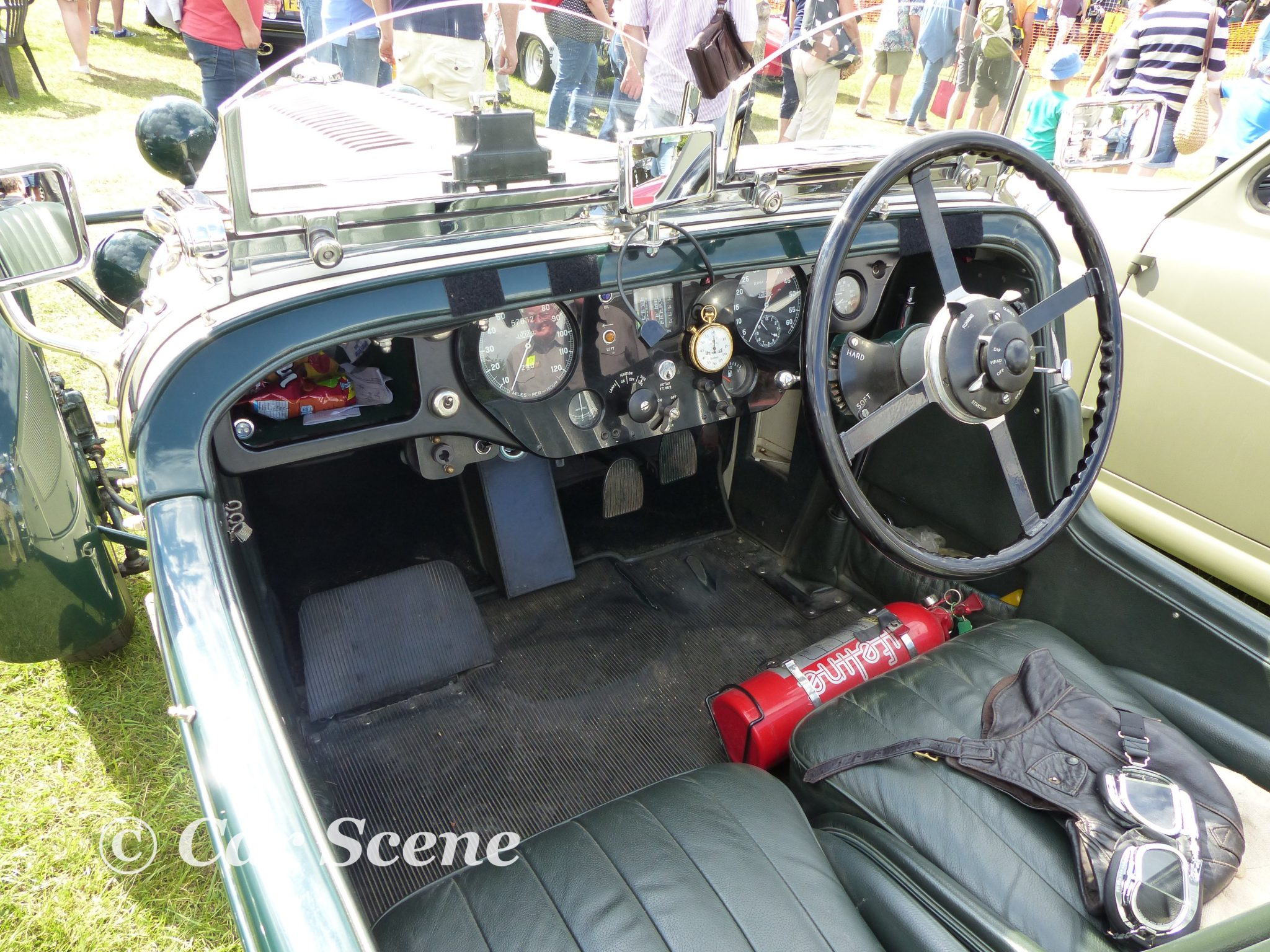 1937 Talbot in the style of a 1934 Alpine team model cockpit view