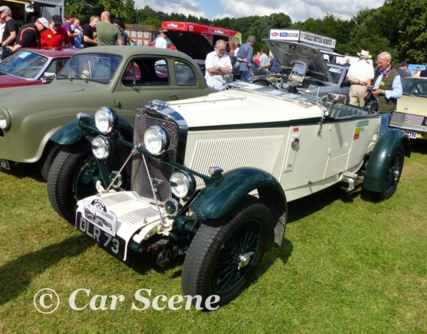 1937 Talbot in the style of a 1934 Alpine team model front side view