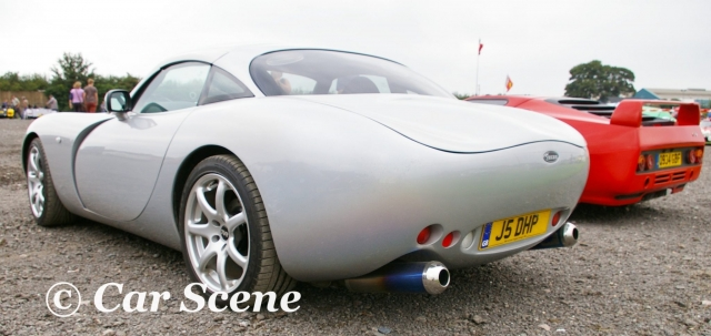 TVR Tuscan rear three quarters view