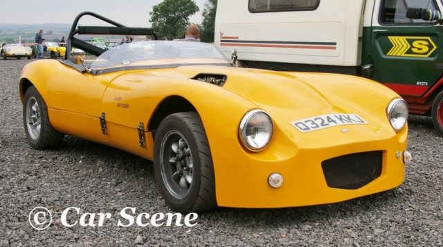 Fury Spyder front three quarters view