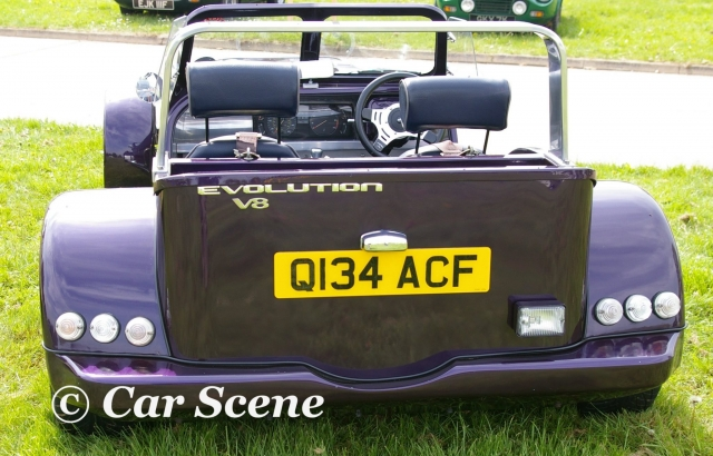 Evolution V8 rear view