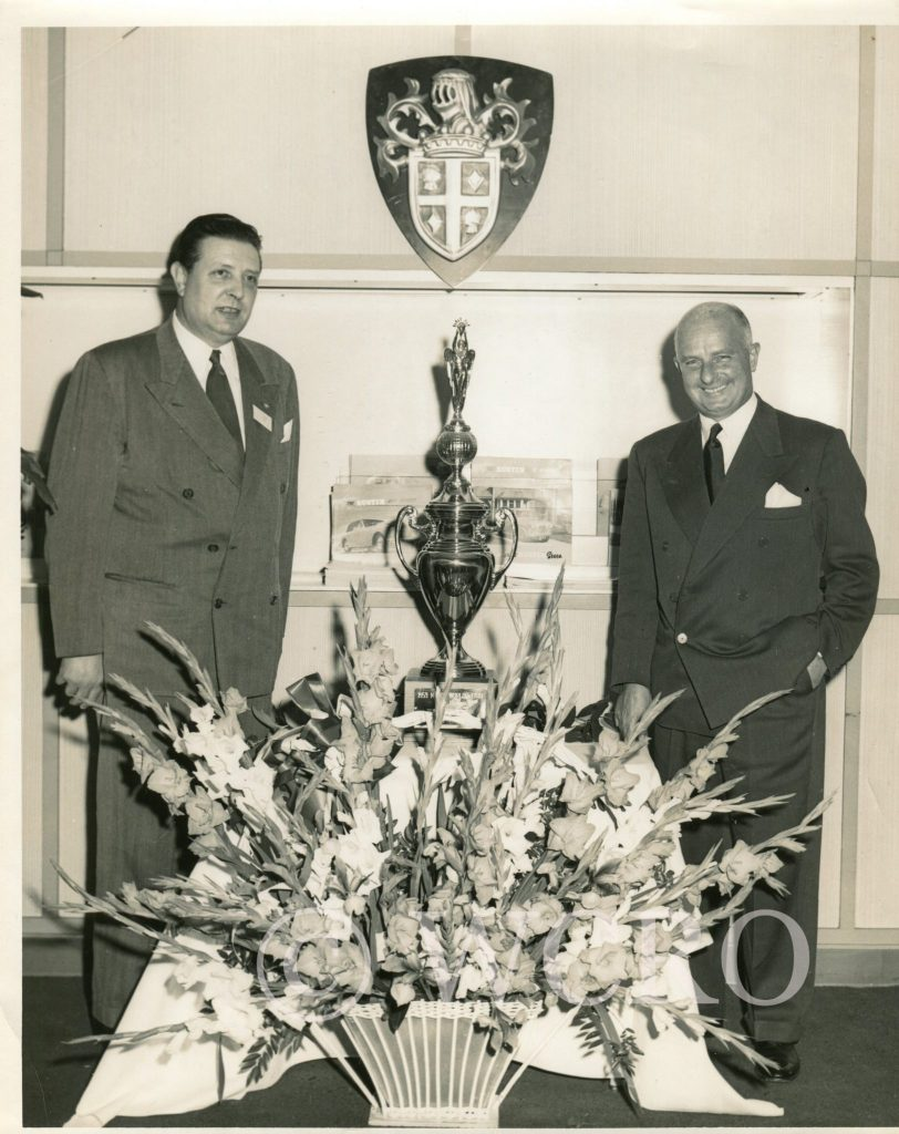 CR Melton with Donald Healey