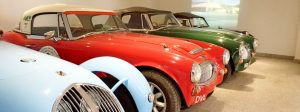 Some of the cars on display at the Healey Cyder factory
