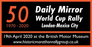 Daily Mirror World Cup Rally 50th Anniversary Logo