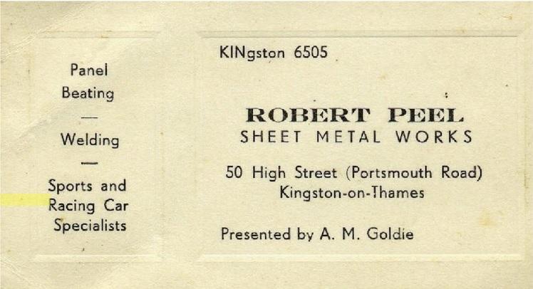 Robert Peel Sheet Metal Works Business Card
