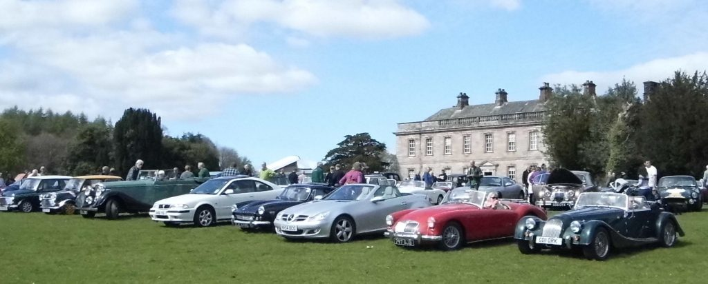 Classic Car Show at Dalemain, Cumbria