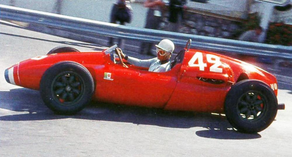 1961 Maurice Trintignan Serenissima Cooper BT51 at Monaco GP