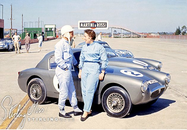 Stirling and sister Pat with Sebring Sprite