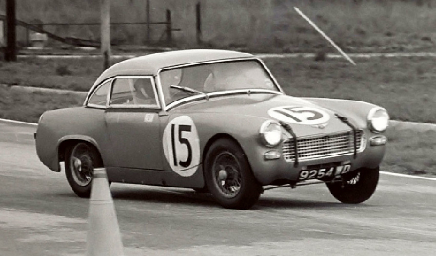 Stirling Moss driving AH Sprite MkII 9254 WD
