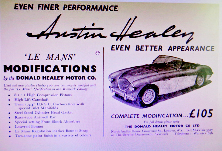 Austin Healey Le Mans Kit Advert