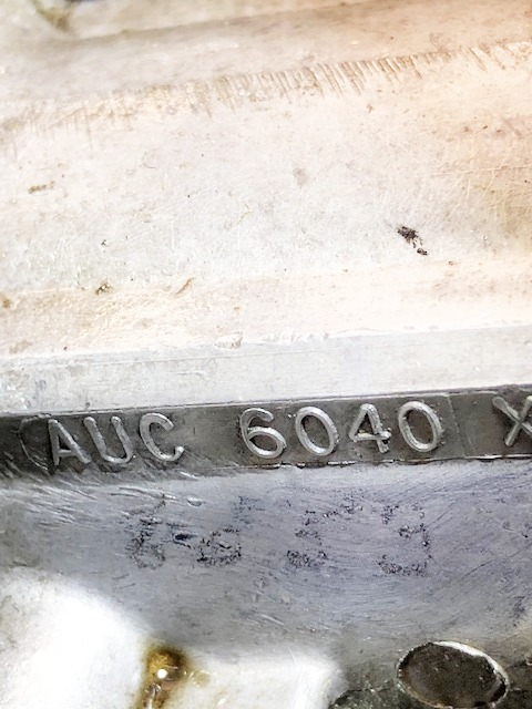 Hand written number on carburettor 1