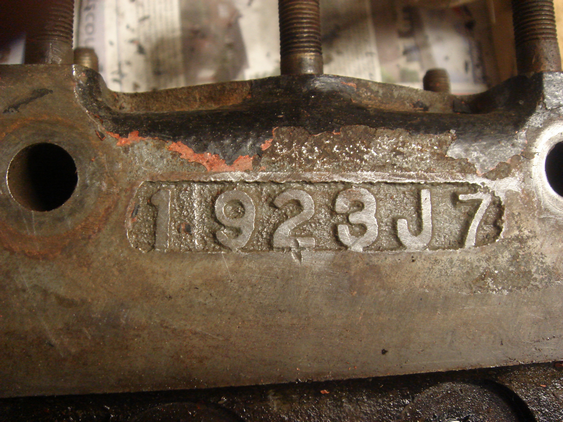 1923J7 casting number on 'Police' cyl. head.