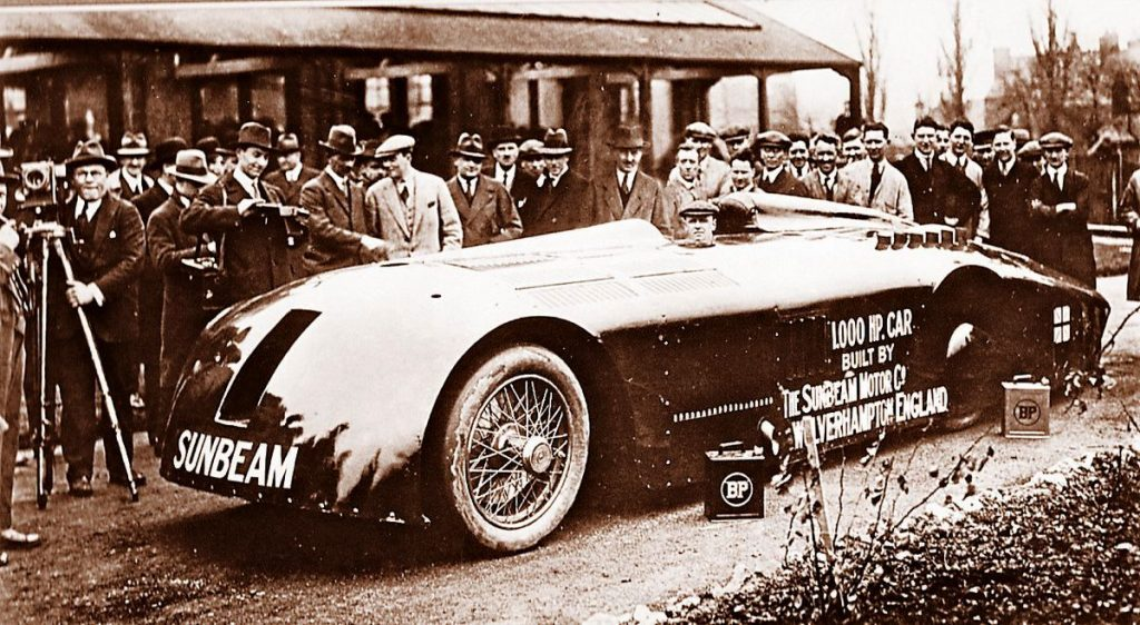 "1927 Sunbeam 'Mystery' (aka ""The Slug"") Land Speed Record car"