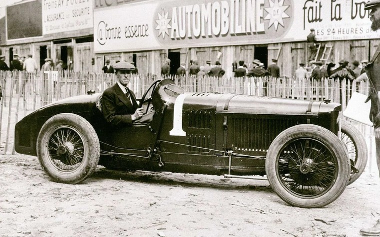 Henry Seagrave in a Sunbeam gp car