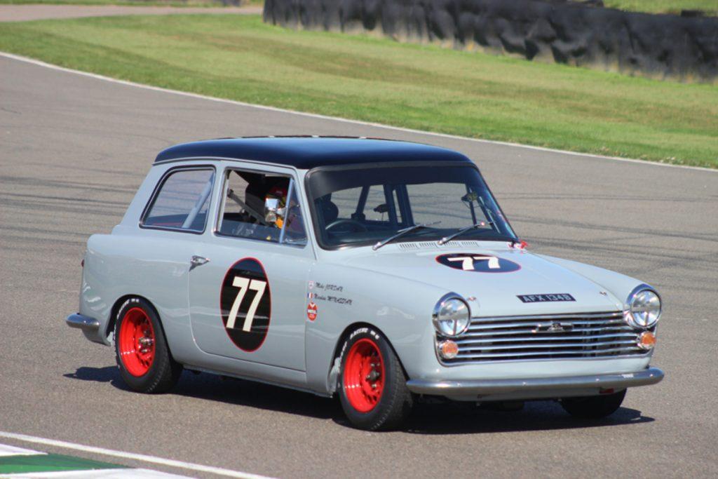 "Austin A40 at a recent ""Historics"" race meeting"