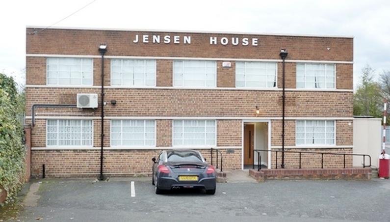 Jensen Motors Carters Green West Bromwich Admin Office block.