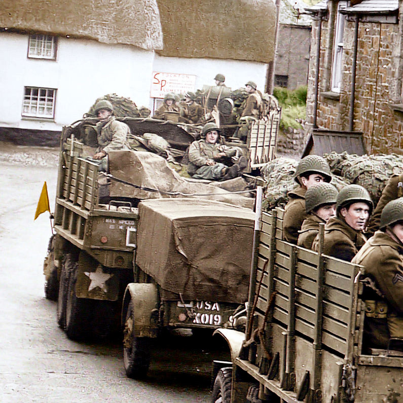 29th US Infantry Division at Trebah during WWII.