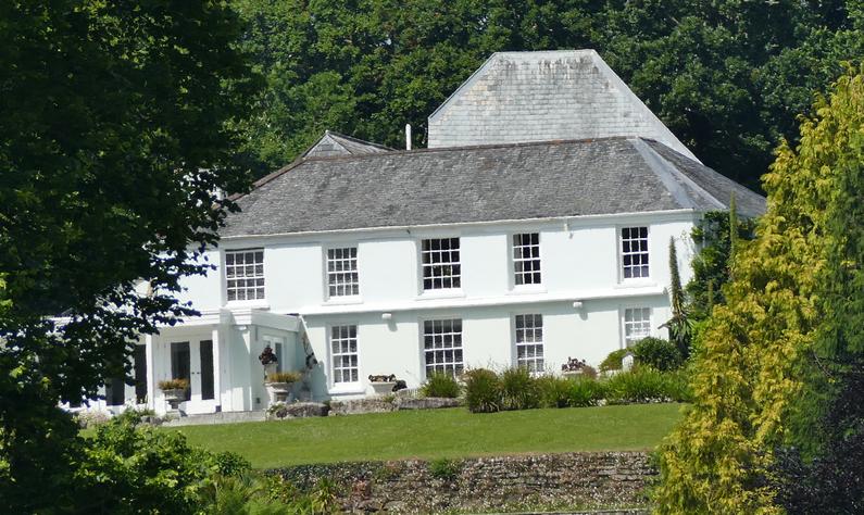 Trebah House from the 'Coastal Path'